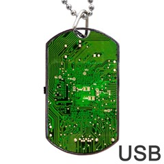 Circuit Board Dog Tag Usb Flash (one Side)