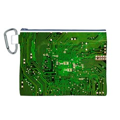 Circuit Board Canvas Cosmetic Bag (L)