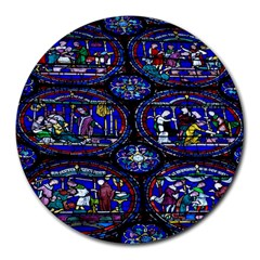 Church Window Canterbury Round Mousepads