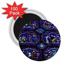 Church Window Canterbury 2 25  Magnets (100 Pack)