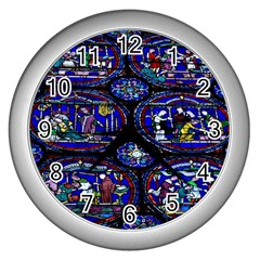 Church Window Canterbury Wall Clocks (Silver)