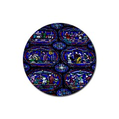 Church Window Canterbury Rubber Round Coaster (4 pack)