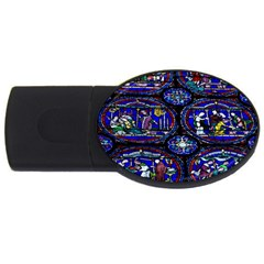 Church Window Canterbury Usb Flash Drive Oval (4 Gb)