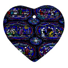 Church Window Canterbury Heart Ornament (Two Sides)
