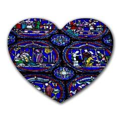 Church Window Canterbury Heart Mousepads