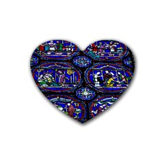 Church Window Canterbury Heart Coaster (4 pack)