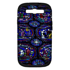 Church Window Canterbury Samsung Galaxy S III Hardshell Case (PC+Silicone)