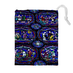 Church Window Canterbury Drawstring Pouches (extra Large)