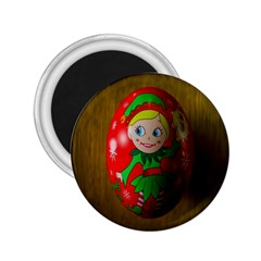 Christmas Wreath Ball Decoration 2.25  Magnets