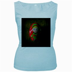 Christmas Wreath Ball Decoration Women s Baby Blue Tank Top