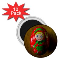 Christmas Wreath Ball Decoration 1.75  Magnets (10 pack)