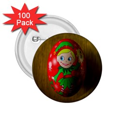 Christmas Wreath Ball Decoration 2.25  Buttons (100 pack)