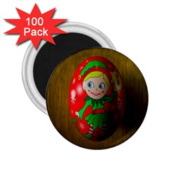 Christmas Wreath Ball Decoration 2.25  Magnets (100 pack)