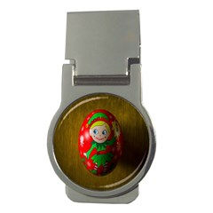 Christmas Wreath Ball Decoration Money Clips (Round)