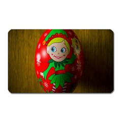 Christmas Wreath Ball Decoration Magnet (Rectangular)