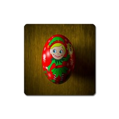 Christmas Wreath Ball Decoration Square Magnet