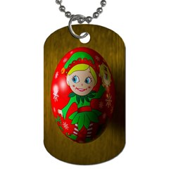 Christmas Wreath Ball Decoration Dog Tag (one Side)