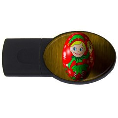 Christmas Wreath Ball Decoration USB Flash Drive Oval (4 GB)