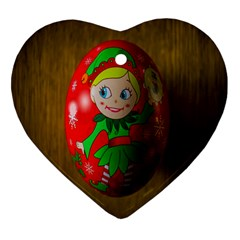 Christmas Wreath Ball Decoration Heart Ornament (Two Sides)
