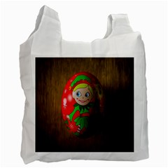 Christmas Wreath Ball Decoration Recycle Bag (Two Side)