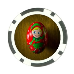 Christmas Wreath Ball Decoration Poker Chip Card Guard (10 pack)