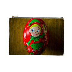 Christmas Wreath Ball Decoration Cosmetic Bag (Large)