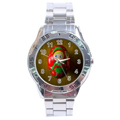 Christmas Wreath Ball Decoration Stainless Steel Analogue Watch