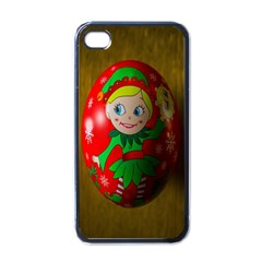 Christmas Wreath Ball Decoration Apple iPhone 4 Case (Black)