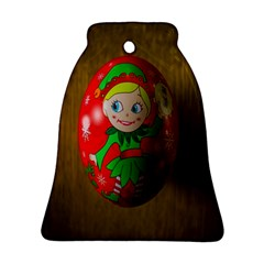 Christmas Wreath Ball Decoration Bell Ornament (Two Sides)