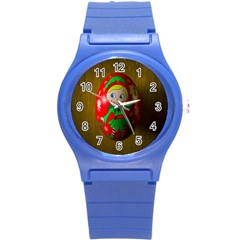 Christmas Wreath Ball Decoration Round Plastic Sport Watch (S)