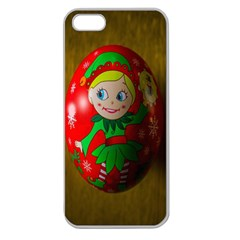 Christmas Wreath Ball Decoration Apple Seamless iPhone 5 Case (Clear)