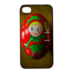 Christmas Wreath Ball Decoration Apple Iphone 4/4s Hardshell Case With Stand