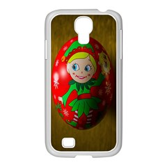 Christmas Wreath Ball Decoration Samsung Galaxy S4 I9500/ I9505 Case (white)