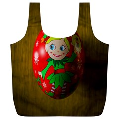 Christmas Wreath Ball Decoration Full Print Recycle Bags (l)