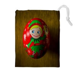 Christmas Wreath Ball Decoration Drawstring Pouches (Extra Large)