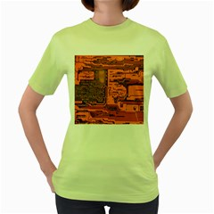 Circuit Women s Green T-Shirt