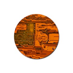 Circuit Rubber Round Coaster (4 pack)
