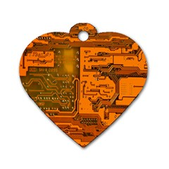 Circuit Dog Tag Heart (Two Sides)