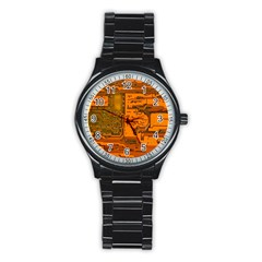 Circuit Stainless Steel Round Watch