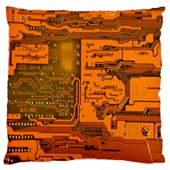 Circuit Large Flano Cushion Case (two Sides)
