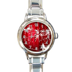 City Nicholas Reindeer View Round Italian Charm Watch