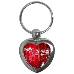 City Nicholas Reindeer View Key Chains (Heart)