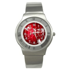 City Nicholas Reindeer View Stainless Steel Watch