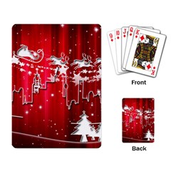 City Nicholas Reindeer View Playing Card