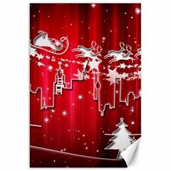 City Nicholas Reindeer View Canvas 20  x 30
