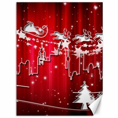 City Nicholas Reindeer View Canvas 36  x 48