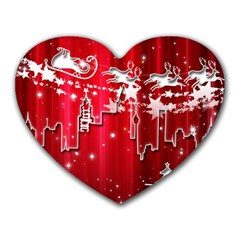 City Nicholas Reindeer View Heart Mousepads