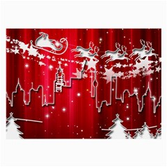 City Nicholas Reindeer View Large Glasses Cloth