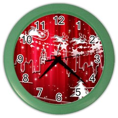 City Nicholas Reindeer View Color Wall Clocks