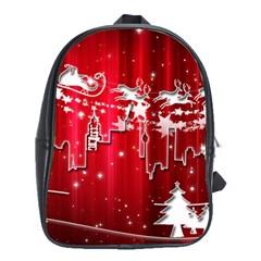 City Nicholas Reindeer View School Bags(Large)